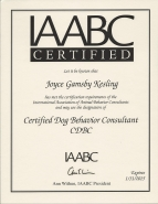 "About IAABC History The IAABC was founded in 2004, recognizing that the practice of assisting the public with companion animal behavior problems was a growing field that encompassed many different professionals: veterinarians, animal trainers, animal shelter employees, academics as well as practicing consultants who didn't always fit neatly into one of the aforementioned categories. The goals of the IAABC were to standardize and support the practice of companion animal behavior consulting, while providing resources for pet owners needing advice. The organization is growing and currently has over 700 members throughout the world. Who We Are IAABC members have diverse practices and methodologies, and believe in the study and science of behavior consulting. We understand that animal behavior consultants can assist owners in managing and modifying problem behaviors, and in the process help strengthen the relationships between an owner and pet. IAABC members work to minimize the use of aversive stimuli and maximize the effective use of reinforcers to modify animal behavior. The LIMA (least intrusive and minimally aversive) principle is useful as a general rule. Within that framework, the IAABC welcomes diversity and openness. Positive regard, and respect for differences are among our core values. For Potential Members The IAABC provides networking and educational opportunities for members through on-line discussion groups, guided studies, webinars and conferences. We offer three tiers of membership in five different divisions (dog, cat, parrot, horse, working animal) to match different interests and skill levels. Certified and Associate members are listed in our Member Locator at no additional fee. To learn more about becoming a member, please visit our Join page. Behavior Problems with Your Pet? Animal behavior consultants respect the client's right to self-determination and embrace a non-judgmental approach. Our Certified members are required to demonstrate competency in six core areas including assessment and intervention strategies, consulting skills, knowledge of animal behavior, and species-specific knowledge. Our Certified Associate members are required to show competence in at least three of the six core areas of competence. To find a Certified or Associate Certified member near you, visit our Member Locator. IAABC Mission Statement ""The IAABC is a professional organization whose mission is to support its members in promoting Least Intrusive, Minimally Aversive (LIMA) principles in their work with companion animals, and to become a resource for the public. We strive to assist companion animals and their humans by interrupting and preventing the cycle of inappropriate punishment, rejection, and euthanasia of animals due to behavior problems. The IAABC promotes professionalism and continuing education in the field of animal behavior consulting."""