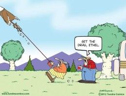 Dog on retractable lead! Tundra Comics